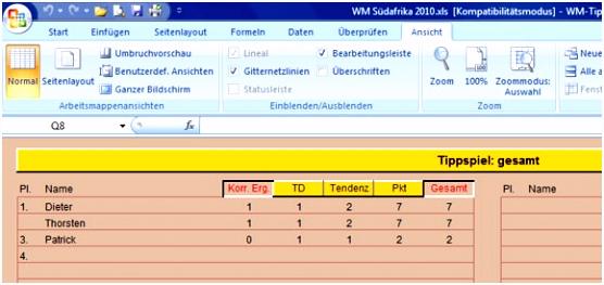 WM 2010 WM Tippspiel Vorlage › Ratgeber DeLuXe