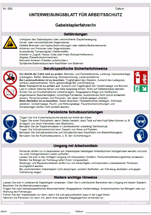 Vorlage Unterweisung Arbeitsschutz 90 New Sicherheitsunterweisung Vorlage E1nn71ugi6 C5uds4ghd6