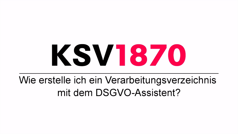 Wie erstelle ich ein Verarbeitungsverzeichnis mit dem DSGVO