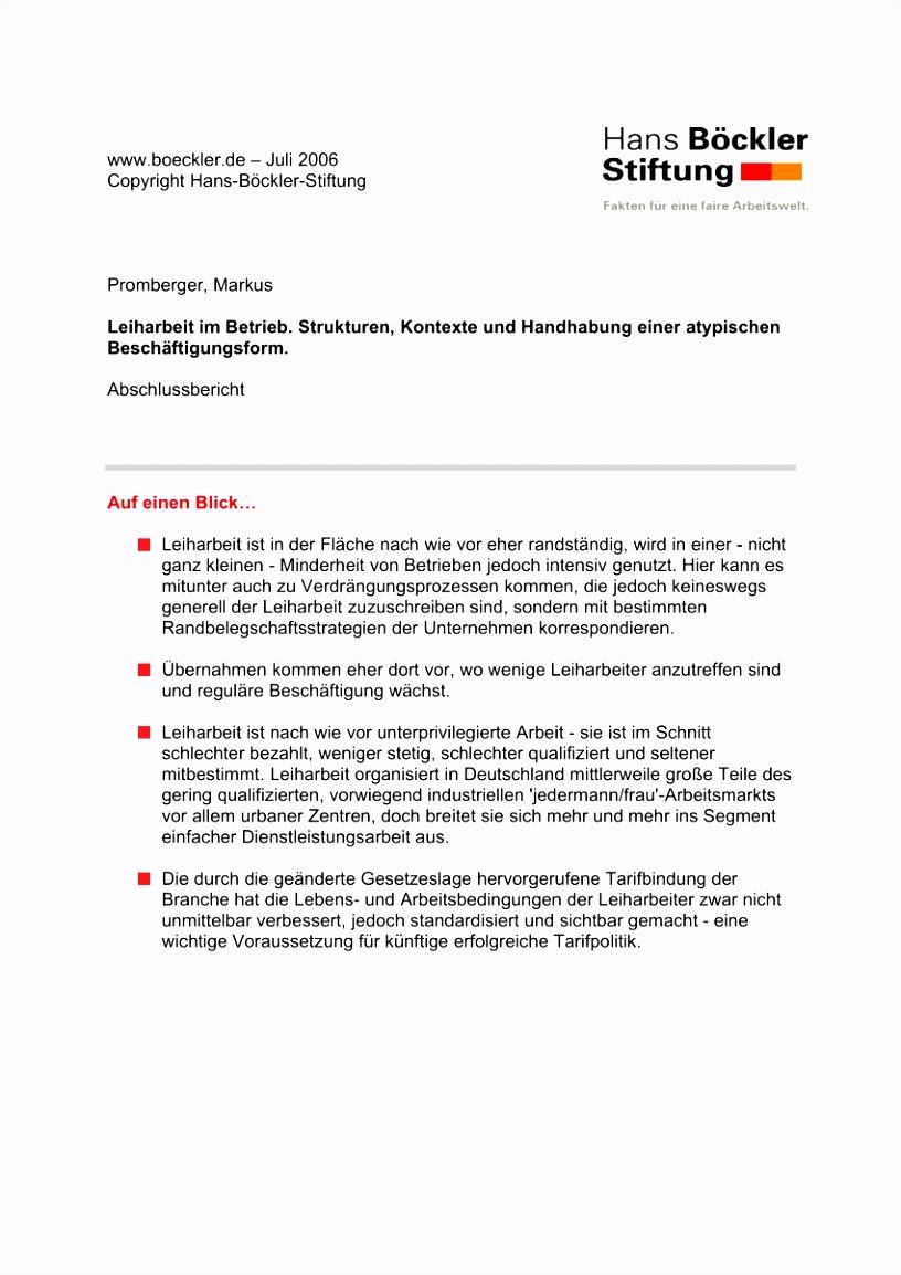 PDF Leiharbeit im Betrieb Strukturen Kontexte und Handhabung
