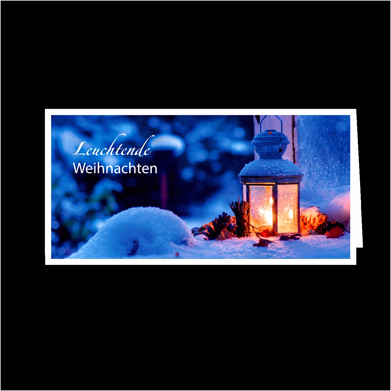 Weihnachtskarte – Leuchtende Weihnachten
