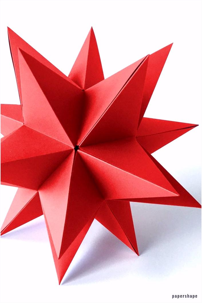 Riesen 3d Stern falten a la Bascetta ohne Zusammenstecken mit