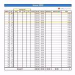 10 Zeiterfassung Excel Vorlage Kostenlos 2016