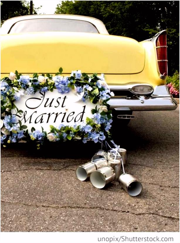 Vorlage Auto Just Married Probe Hochzeit Archive