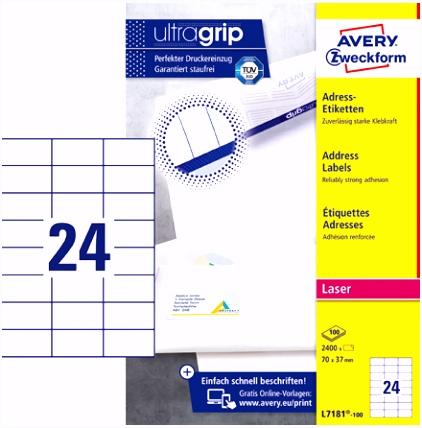Avery Zweckform J8160 25 Adress Etiketten A4 Papier matt 525 S