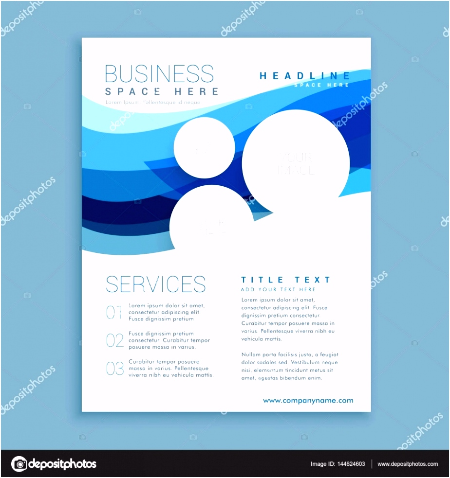 Elegante Flyer Elegant Elegante Blaue Welle Business Broschüre Flyer