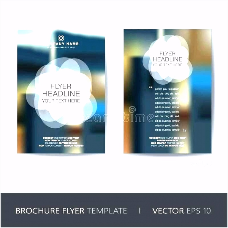 Fold Brochure Template Collections Templates Sponsorship Flyer