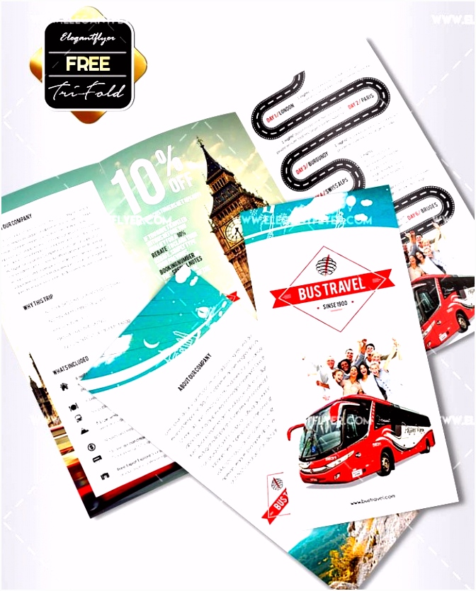Country Brochure Template Beautiful tour Travel Flyer Template for