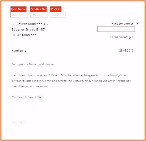46 Empfohlen Kündigung Sportverein Kind Vorlage