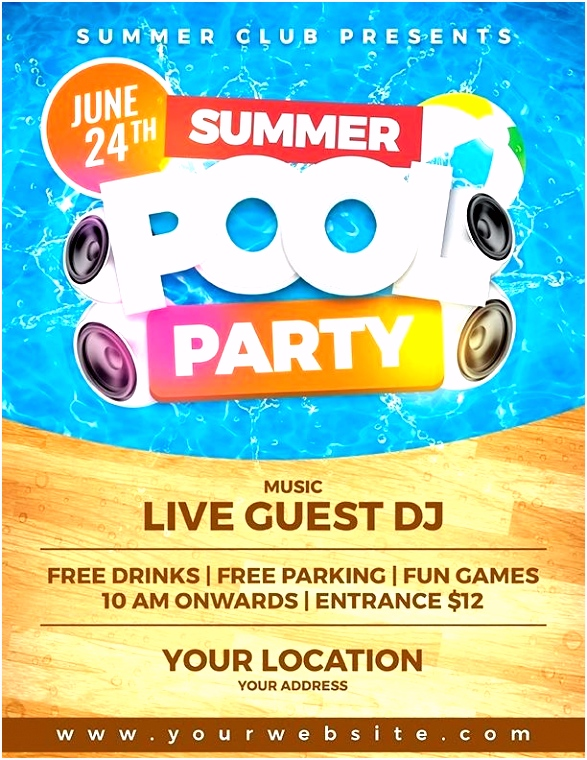 Free Pool Party Invites Templates New Penguin Invitation Card Flyer
