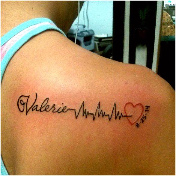 Herzschlag Tattoos tattooideen