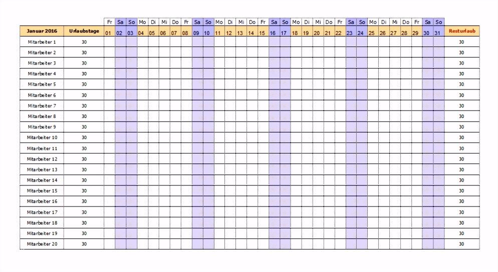 15 Einzigartigurlaubsplaner Excel Vorlage solche Können Anpassen Für