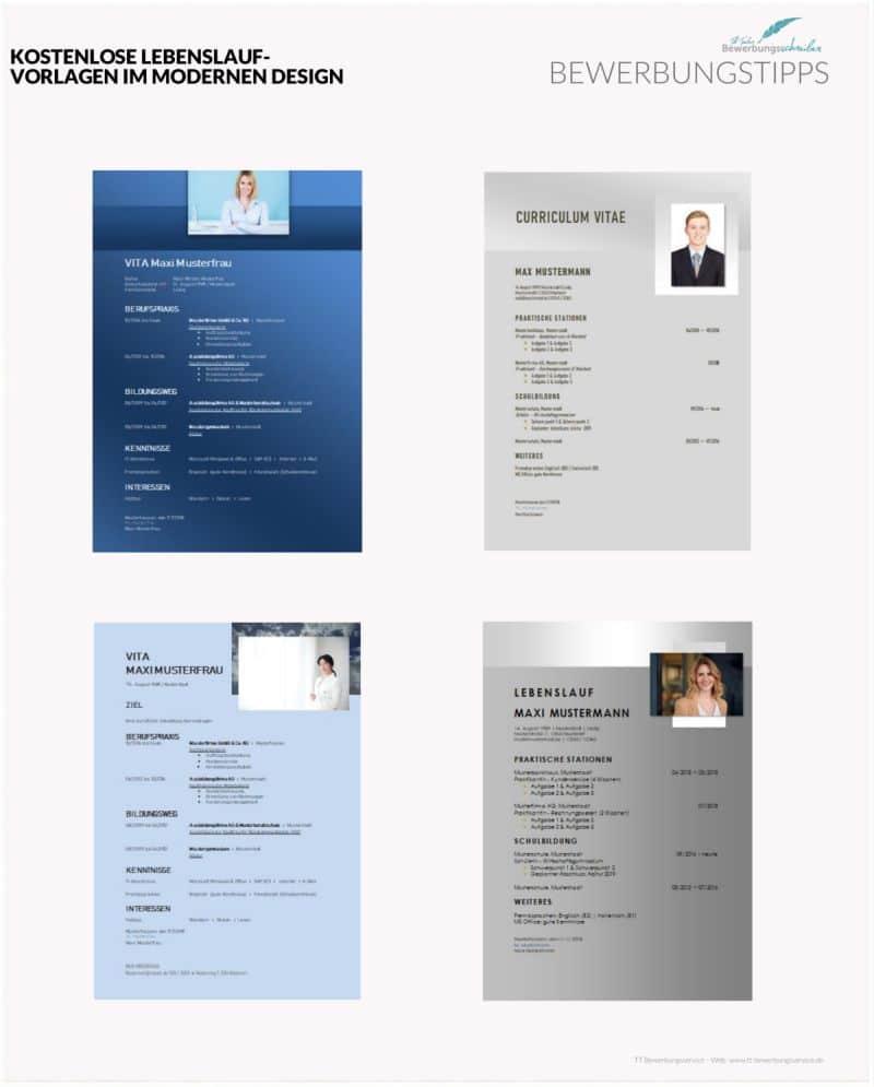Lebenslauf Vorlagen Modern Und Kostenlos Zum Download Hier