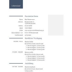 114 Lebenslauf Muster Vorlagen 2020 Kostenlos Als Download